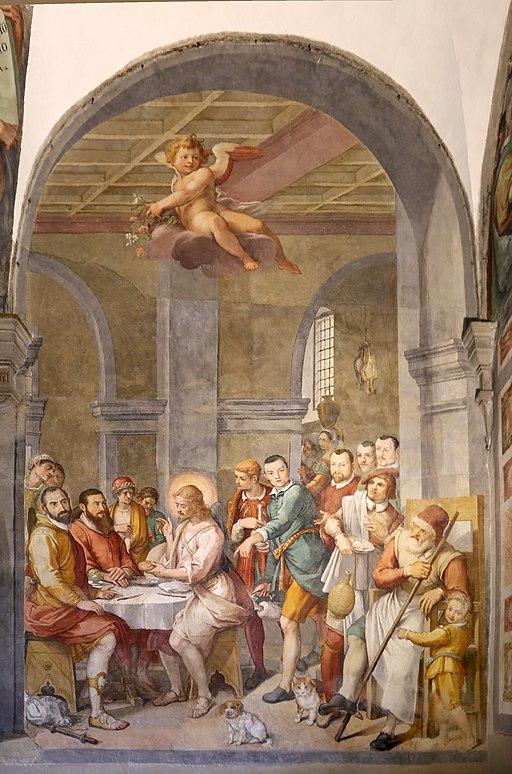 Bernardino poccetti e bottega, tre cene, 1597, 06 cena in emmaus 1