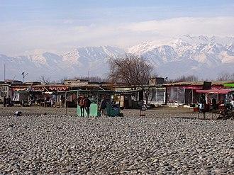 Chaharikar District - Beside the Golbahar River