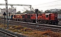 Bhubanaeshwar bound Visakha express exits Secunderabad 01.jpg