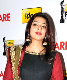Bhumika Chawla at 60th Filmfare Awards South (cropped).jpg