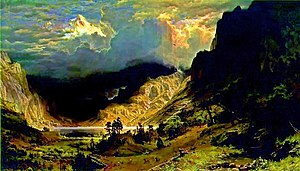 William Byers - Image: Bierstadt storm in the rocky mountains 1886