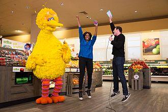 Big Bird - Big Bird with Michelle Obama on Billy on the Street, with host Billy Eichner.