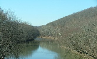 Big Sandy River (Ohio River tributary) - Confluence of Levisa Fork and Tug Fork, forming the Big Sandy River
