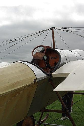 Blackburn Type D - Image: Blackburn Type D cockpit