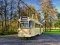 Blackpool Tramway Brush Railcoach car 280 at Heaton Park Tramway (Geograph-4453220-by-David-Dixon).jpg