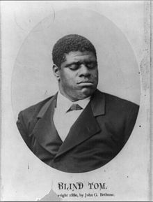Head and shoulders portrait of Blind Tom Wiggins