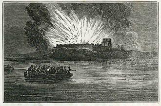 Battle of Pensacola (1814) - Destruction of Fort Barrancas by the British