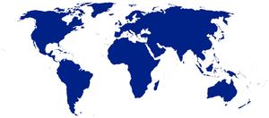 Qu'est-ce que la mondialisation ? 300px-BlueWorldMap