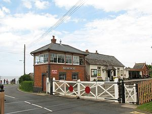 Blue Anchor railway station - Image: Blue Anchor station 2009