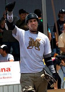 Bob Burnquist Brazilian professional skateboarder