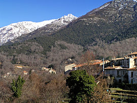 A view of part of the village