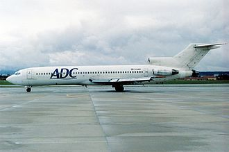 ADC Airlines Flight 86 - Image: Boeing 727 2H9 Adv, ADC Airlines (JAT Yugoslav Airlines) AN0192255