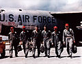 Boeing B-52F Stratofortress aircrew after mission over South-East Asia c1966.JPG
