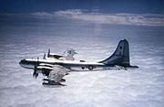 Boeing KB-50J in flight