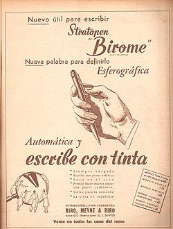Resultado de imagen para el primer boligrafo 1940