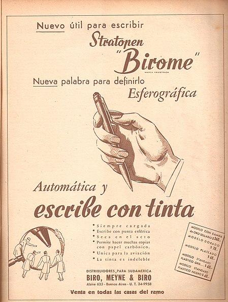 Image:Bolígrafo marca birome I.jpg