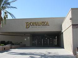 Bonanza High School front entrance.JPG