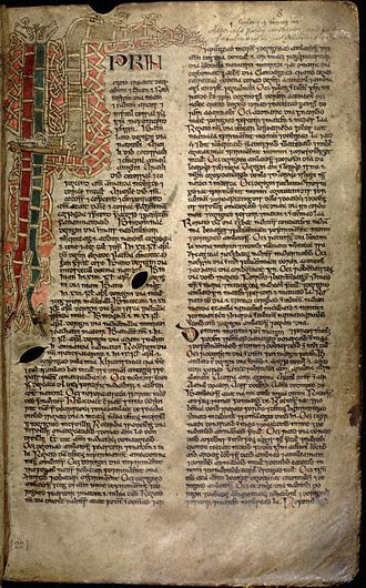 Book of Ballymote - Image: Book of Ballymote 008r