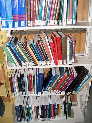 Books on legal writing at the law library of t...