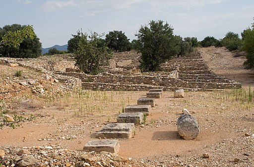 Bouleuterion in Olynthos 2