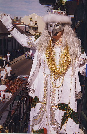 New Orleans Mardi Gras Day 1999. Costumed reve...