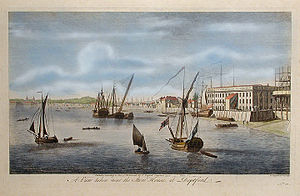 HMS Trial (1744) - The waterfront at Deptford, where Trial was constructed in 1743–44.