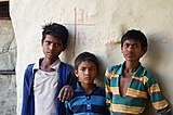 Boys in Mara village, Morena district, India.jpg