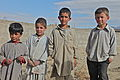 Boys in the Khoshi valley in Logar province, Afghanistan, stand for a photo Nov. 17, 2011 111117-A-BZ540-073.jpg