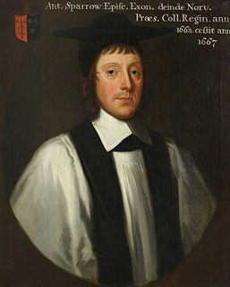 Anthony Sparrow English Anglican priest and bishop