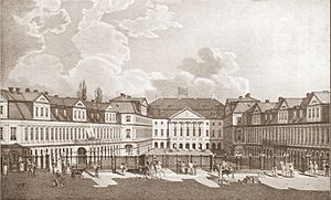 Hermann Korb - The original Brunswick Palace; begun by Korb in 1718. Lithograph from c.1825.