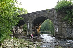 Bridge over West Branch of Westfield River near Middlefield Rd, Chester MA.jpg