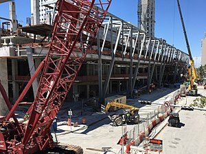 MiamiCentral - Image: Brightline Miami station construction April 2017