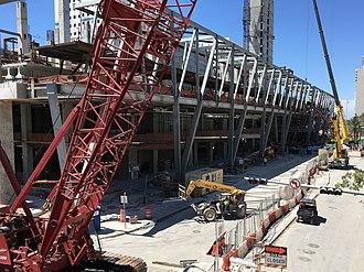 MiamiCentral - Image: Brightline Miami station construction April 2017