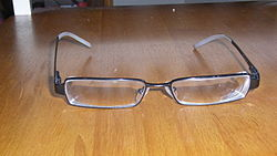 A pair of modern glasses