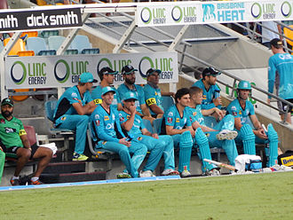 Brisbane Heat - Brisbane Heat squad at the Gabba in 2014