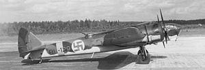 Finnish Air Force - Bristol Blenheim BL-129 of Finnish Air Force LeLv 44