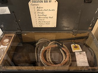 Albert Pierrepoint - Execution Box number eight, containing all the equipment needed for an executioner; shown at Wandsworth Prison museum