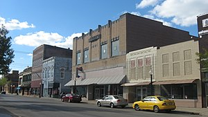 National Register of Historic Places listings in Marion County, Illinois - Image: Broadway in the Centralia Commercial Historic District