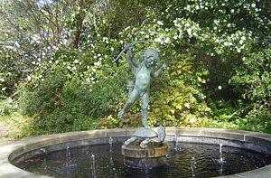 Brookgreen Gardens -  The Tortoise Fountain by Janet Scudder.