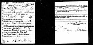 Brooks Benedict - Image: Brooks Benedict Draft Registration Card 1917