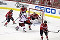 Brouwer Clears the Puck with a Skate (7137932377).jpg