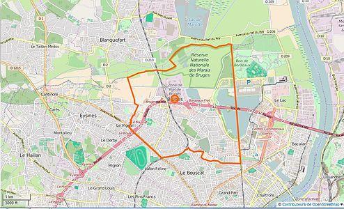 Carte Tram Bordeaux Demandeur Demploi.Bruges Gironde Wikipedia