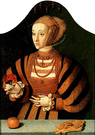 Anne of Cleves - A portrait of Anne in the 1540s by Bartholomäus Bruyn the elder.
