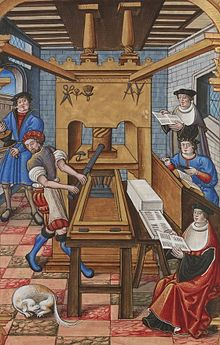 220px-Buchdruck-15-jahrhundert_1 dans Ariège