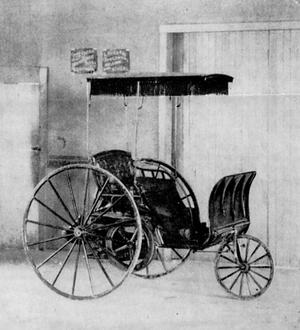 Buckeye gasoline buggy - The 1891 Buckeye Gasoline Buggy