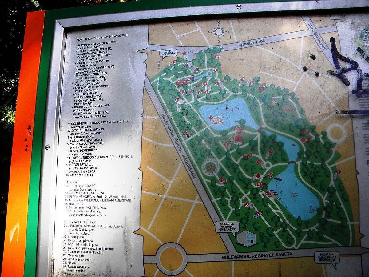 File Bucuresti Romania Parcul Cismigiu Harta Parcului B Ii A A