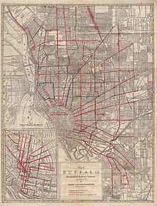 List Of Routes Of City Of Buffalo Streetcars Wikipedia