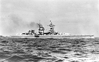 German cruiser Admiral Scheer - Admiral Scheer