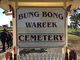 Bung Bong - The Bung Bong, Wareek cemetery