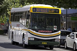 Volvo B7R - Image: Busabout Wagga Bustech 'SBV' bodied Volvo B7R (6681 MO)